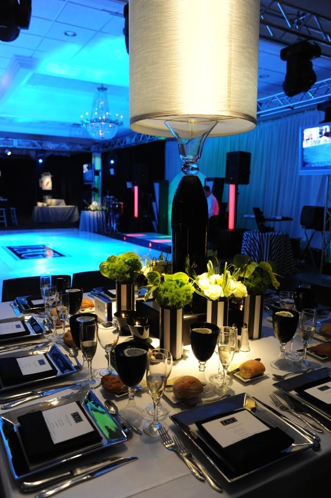 White Lampshades Black and White Sports Theme Parties Mitzvahs Philadelphia Country Clubs