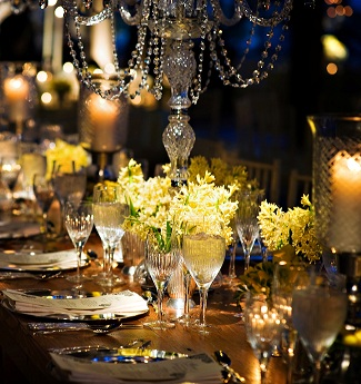 Yellow Flowers Wedding Design Crystal Evantine Design Brian Kappra