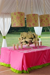 Hot Pink and Green Wedding Design Lilly Pulitzer Inspired Event Design Philadelphia Weddings