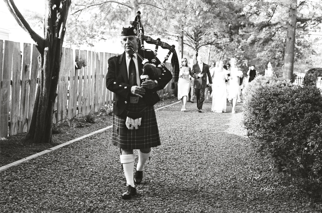 bagpiper wedding marches outdoor weddings beach celebrations