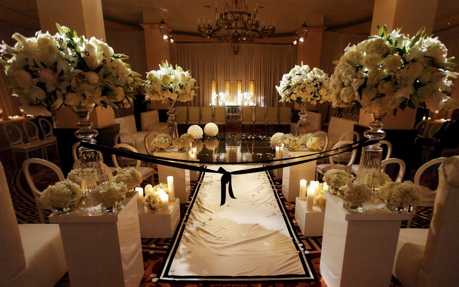 All White Indoor Wedding Ceremony Site: REAL STORIES: Wendy & Danny's Magical Wedding Ceremony