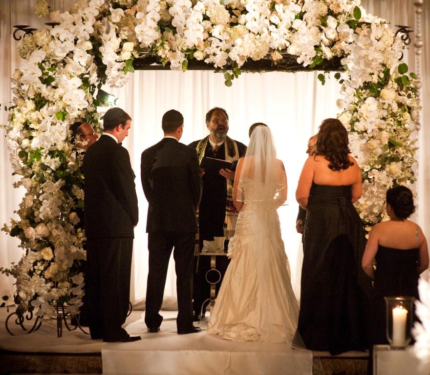 Jewish Wedding Chupah Chuppah White Orchids Rittenhouse Hotel