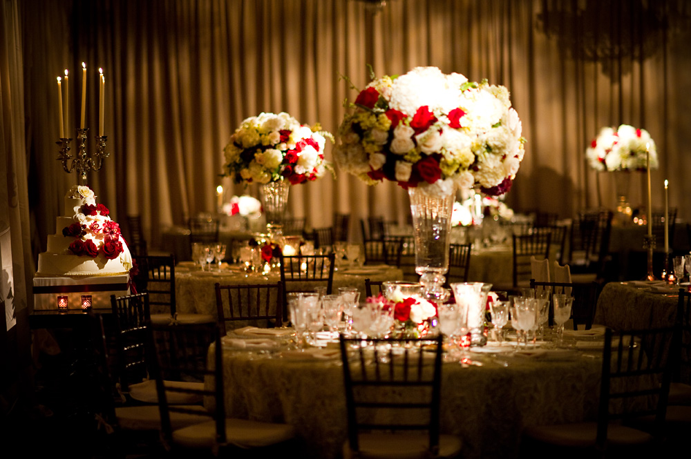 REAL STORIES A Red Ivory And Champagne Wedding At The