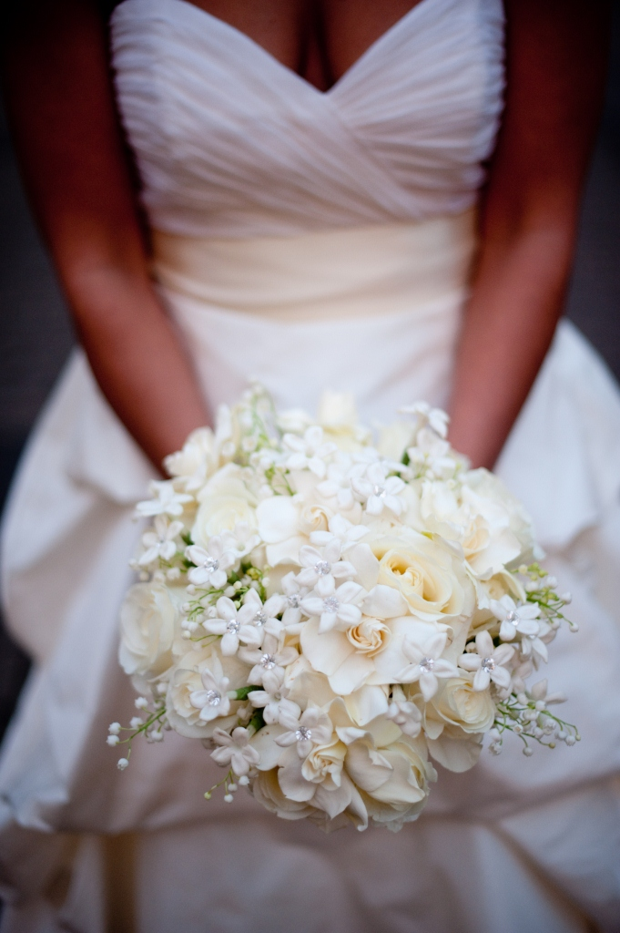 bouquet of the week a bridal bouquet with white stephanotis creamy gardenia ivory roses and. Black Bedroom Furniture Sets. Home Design Ideas