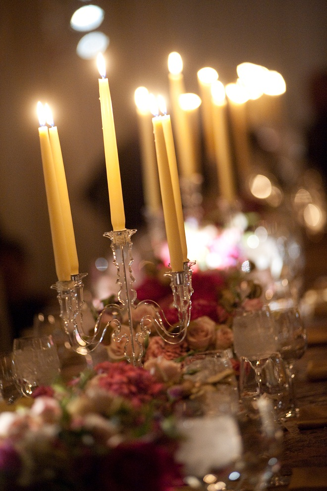 evantine design table centerpieces, taper candles for weddings