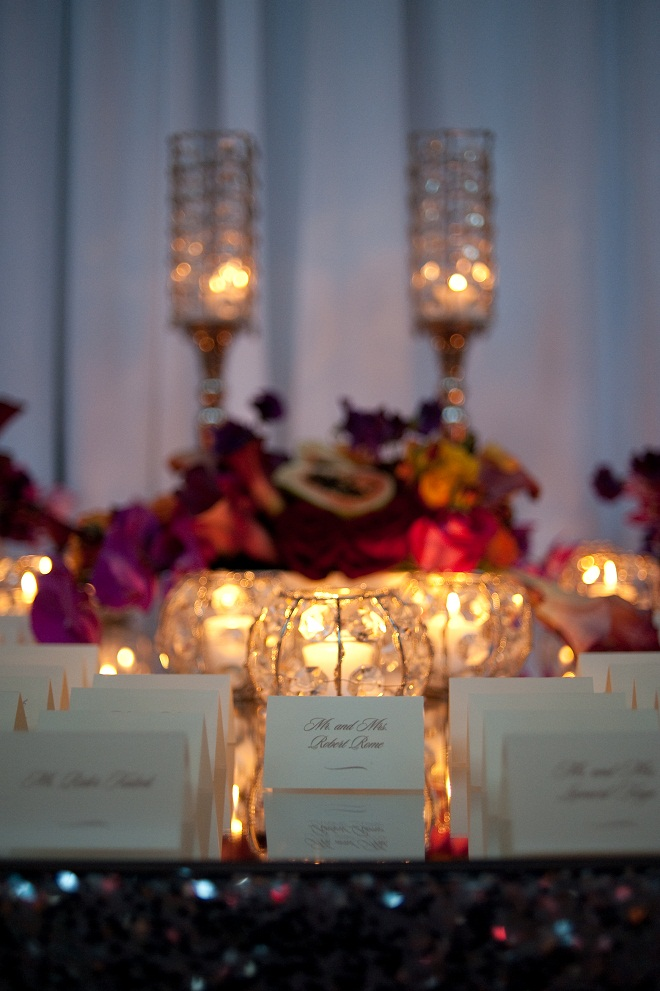 radiant orchid pink placecard tables evantine design