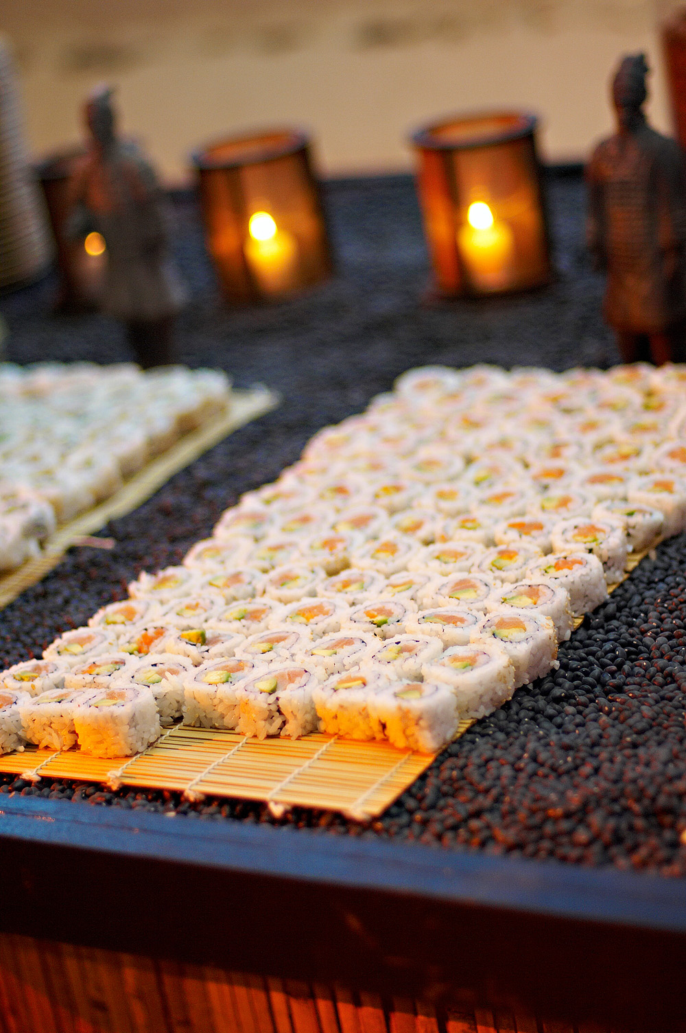Taste sushi bars always a popular food station at for Food bar ideas for a party