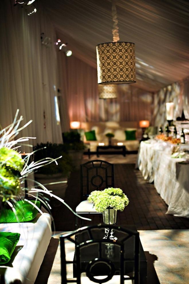 black white and green tented wedding decor philadelphia event planners-c