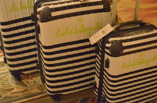 Striped Luggage for her Valentines Day Mothers Day Gifts