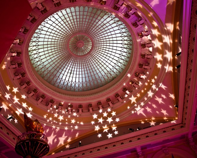 glass dome please touch museum event lighting