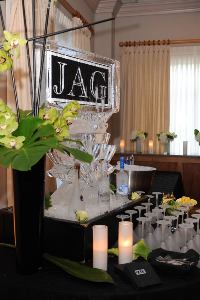 Ice Sculptures for Mitzvahs Philadelphia Event Planners Black and White
