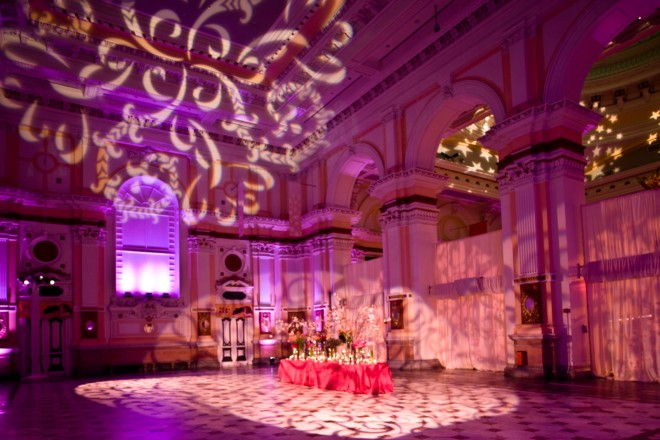Magenta and Hot Pink Lighting Please Touch Museum Weddings