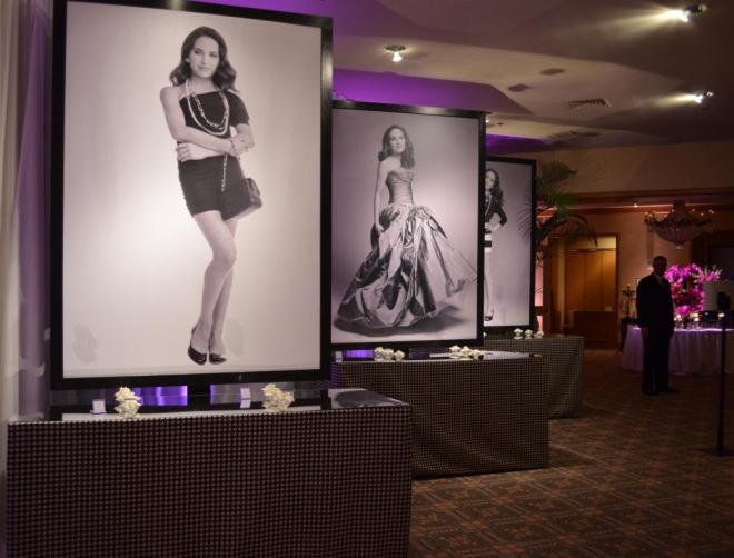 Fashion Photo Placecard tables Melissa Paul Mirror topped houndstooth Chanel Inspired Bat Mitzvah