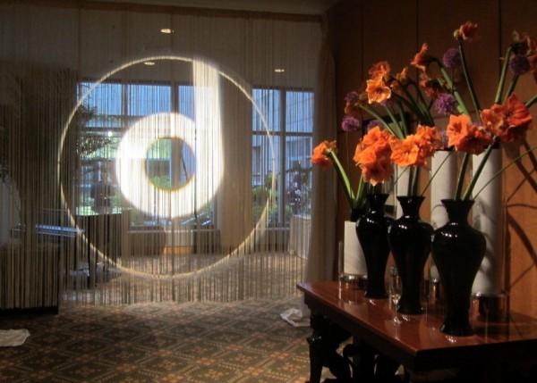 Monogram Light on Fringe Drape Bar Mitzvahs Evantine Design