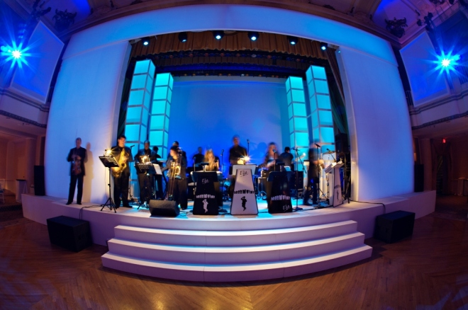 projection stage surround evantine design party planners Philadelphia