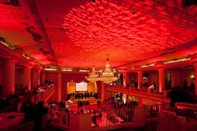 textural red lighting grand ballrooms philadelphia charity events