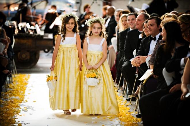 Flower Girls in Yellow Dresses Philadelphia Jewish Weddings