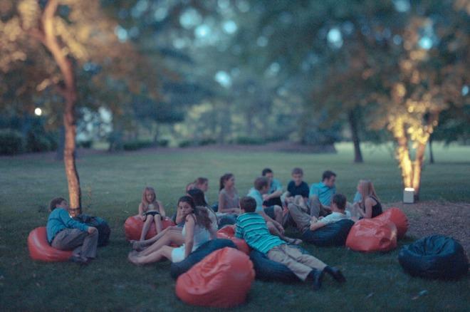 high school graduation parties outdoor movies beanbags philadelphia event designers