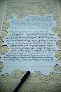 Modern Jewish Wedding Ketubahs Laser Cut Flowers Two Paperdolls