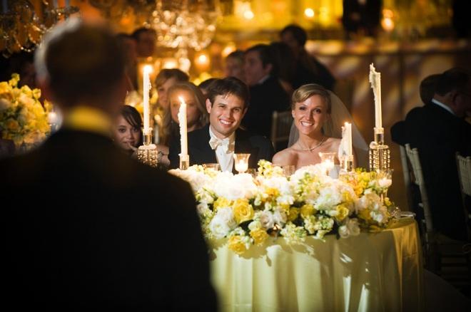 Sweetheart Tables at Weddings Philadadelphia Event Planners Yellow Flowers Evantine Design