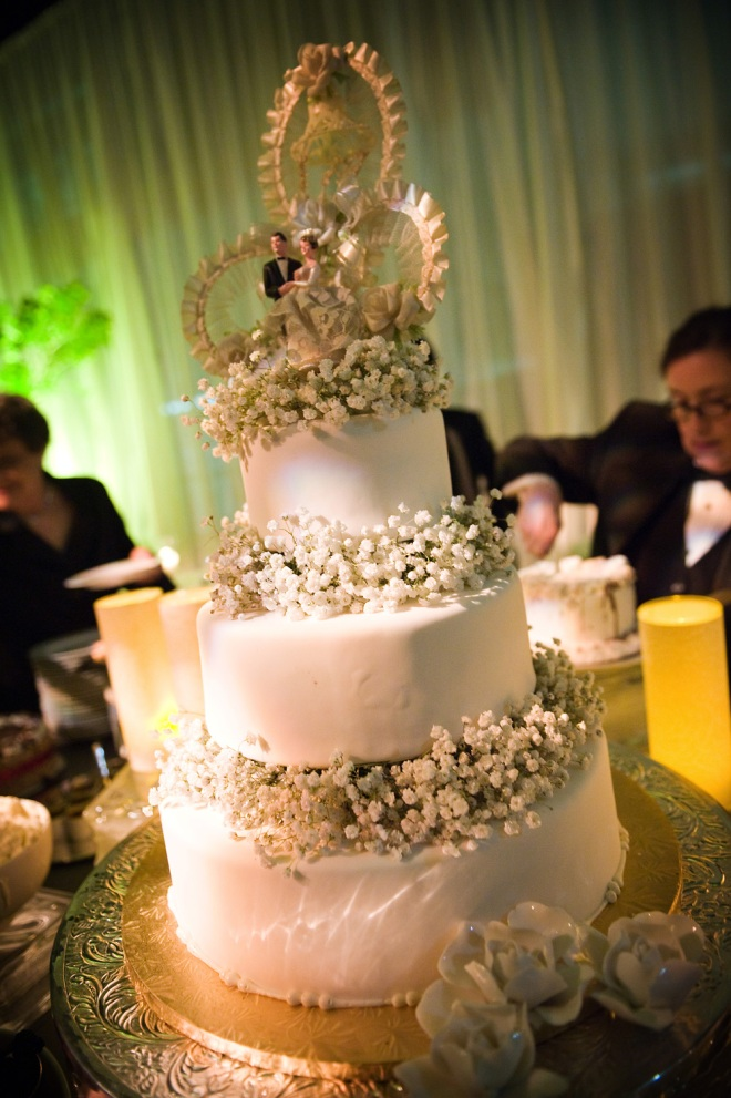 Wedding Cake with Vintage Cake Topper Philadelphia Event Planners