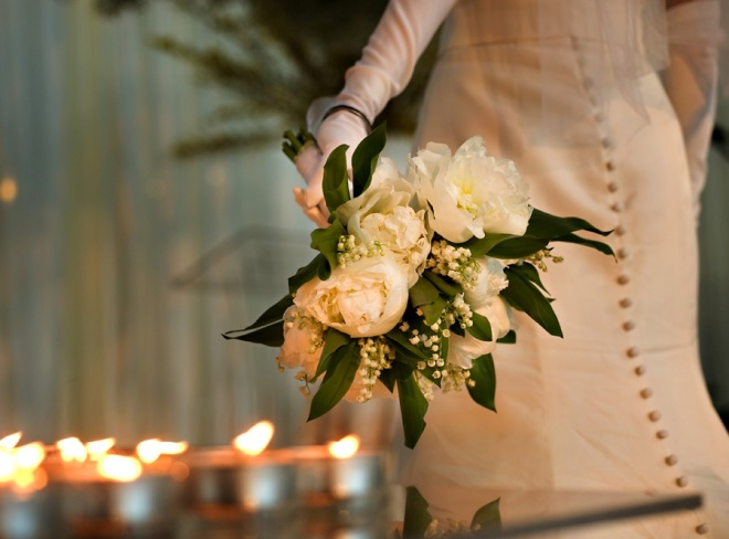 White Peony and Lily of the Valley Bridal Bouquets Evantine Design Philadephia Florists