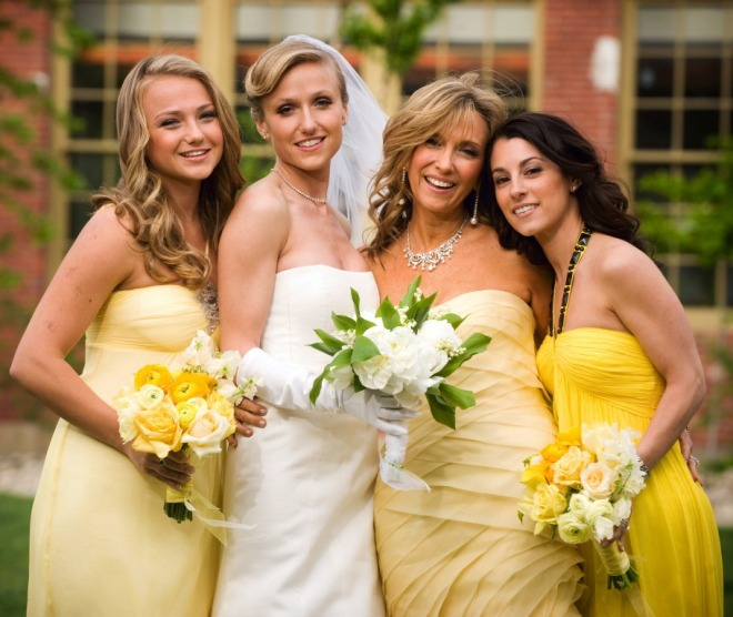 Yellow Evening Gowns Bridesmaids Bouquets Philadelphia Wedding Planners
