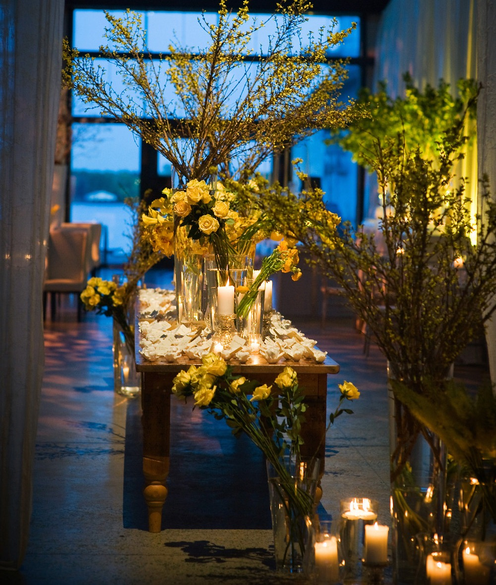 Real Stories Golden Yellow Flowers And Elegant Crystal