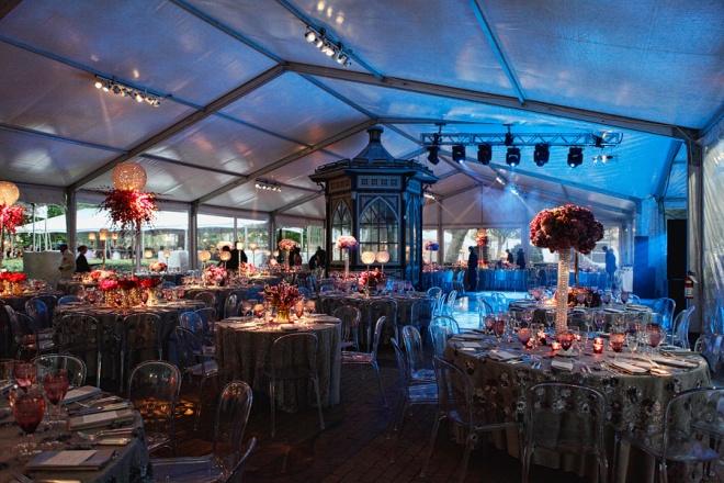 Dinner Tents Philadelphia EventQuip Blue Lighting Eventions Productions