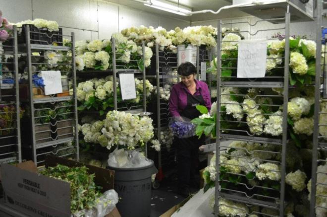 Floral Cooler Behind the Scenes Evantine Design Warehouse