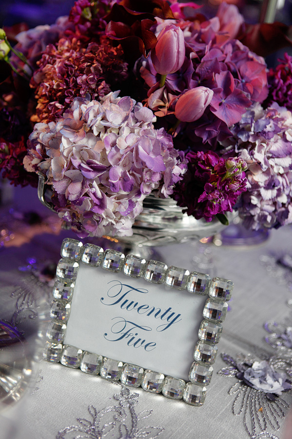 Purple Floral Centerpieces Hydrangea Tulips Lilac Stock Orchids Mini Callas Crystal Table Numbers