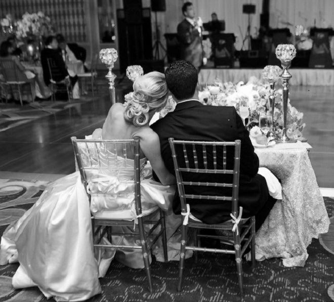 black and white sweetheart table best man toast four seasons hotel