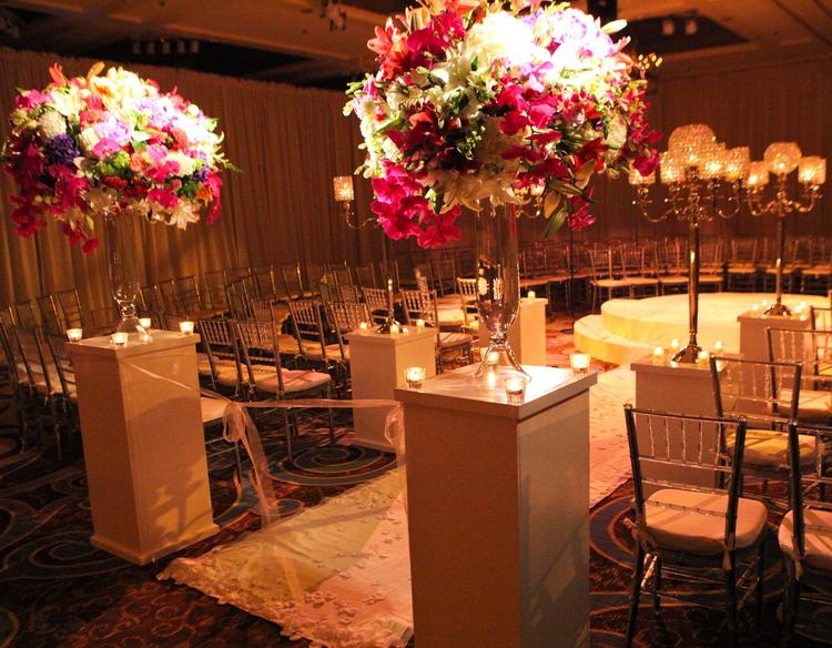 Glamorous weddings evantine design blog for Design hotel wedding