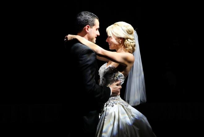 surprise bride and groom first dance photo montage evantine design luxury weddings philadelphia