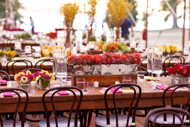Colorful Modern Floral Tablescape Philadelphia Wedding Designers