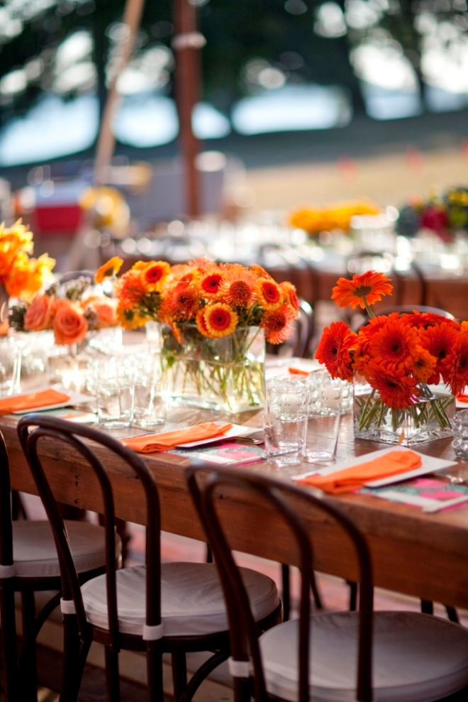 Colorful Modern Outdoor Weddings Evantine Design Philadelphia Floral Designers