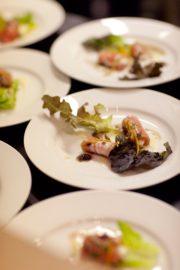 Fish First Course Marc Vetri Catered Wedding Dinner