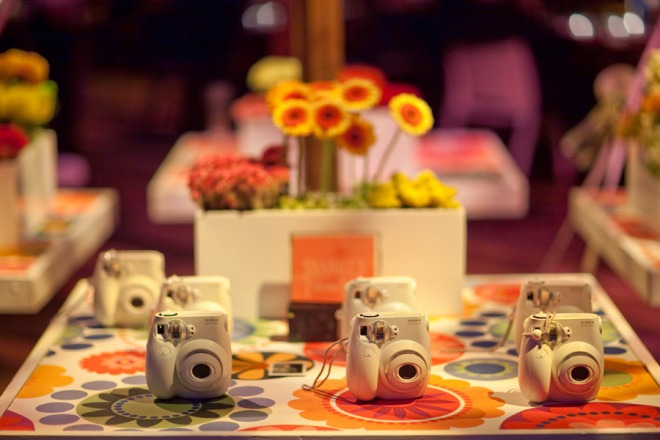 Placecard Tables Modern Fabrics Instant Cameras for Weddings