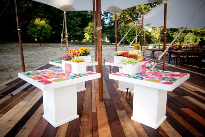 Placecard Tables Sailcloth Tent EventQuip Evantine Design Andalusia