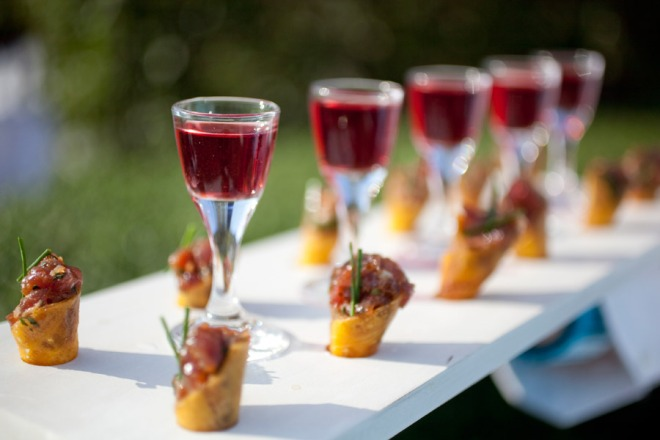 Tuna Tartare and Wine Peter Callahan Outdoor Weddings