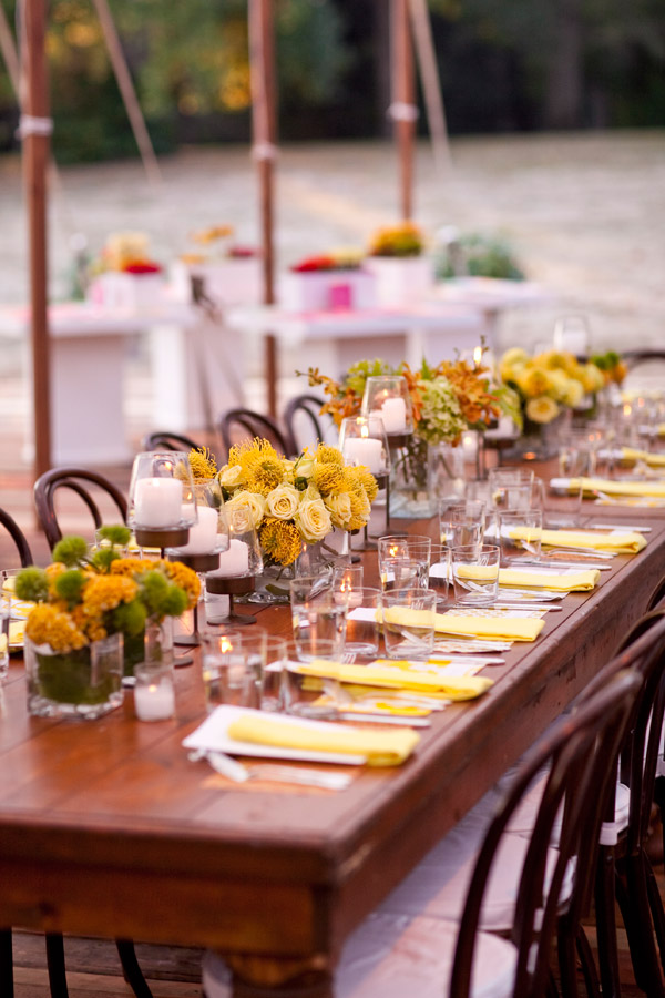 Yellow Flowers Wedding Design Philadelphia Event Planners