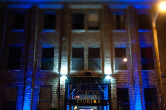 Blue Lighting Bar Mitzvah Decor Design Philadelphia Evantine Design