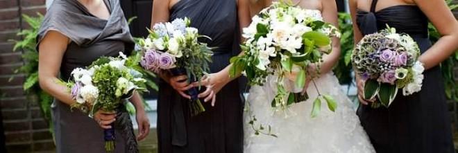 bridal bouquets lavender roses garden flowers stephanotis
