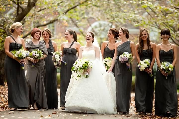 Fall wedding bridesmaid dresses gray years producing weddings