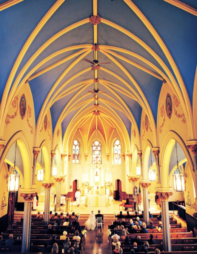 Catholic Wedding Ceremonies Blue Ceiling South Jersey