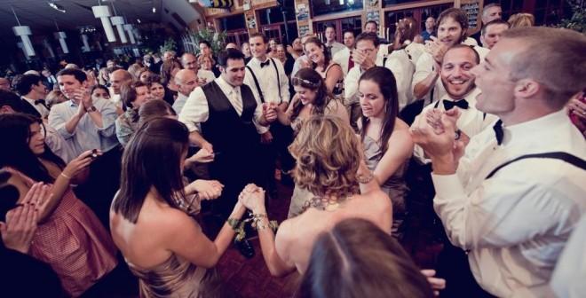 Dancing The Hora Jewish Summer Camp Weddings Evantine Design