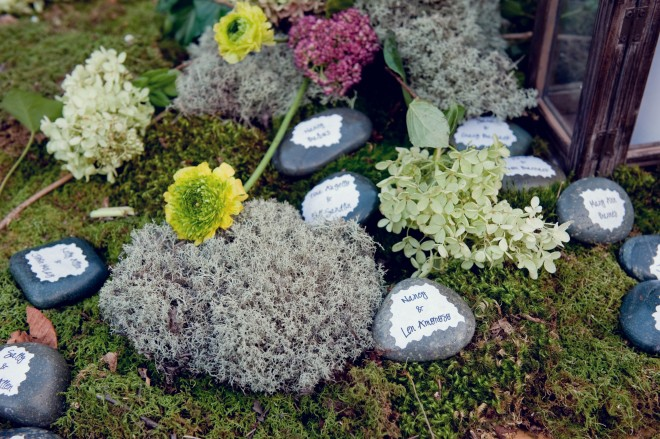 Rock Placecards Country Weddings Evantine Design Love Shack