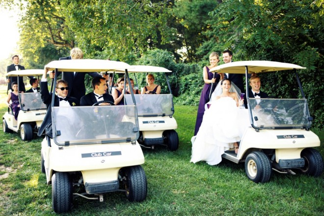 Bridal Party Photos Golf Carts Country Club Weddings South Jersey Wedding Planners