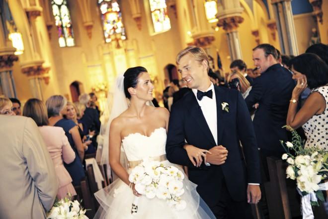 Ceremony Recessional Bride and Groom Exit Church Weddings Philadelphia
