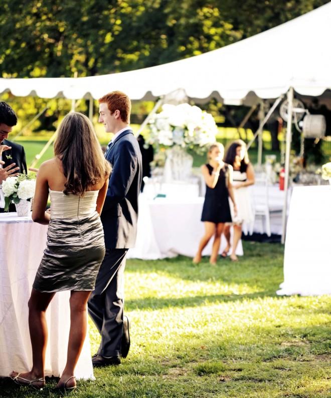 Cocktails Tented Weddings EventQuip Evantine Design